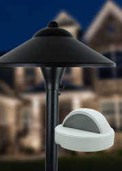 New black and white finishes for VOLT path and deck landscape lights.