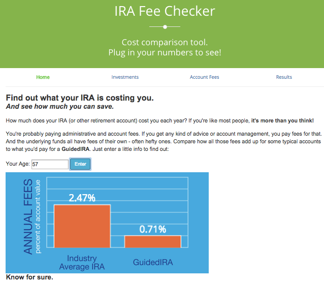 Guidedchoice Shines Spotlight On Fees With Ira Fee Checker App