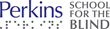 Perkins School for the Blind Logo with sim braille