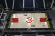 New Atlanta Hawks court at Philips Arena from Connor Sports