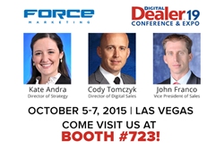 Several Force Marketing team members to attend Digital Dealer 19 in Las Vegas.