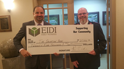 Eidi Properties CEO Ramy Eidi (left) Pictured with Salvation Army's Captain Robert Whitney (right) During Special Ceremony Last Week at Eidi Properties' Head Office.