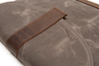 Surface Pro 4 or Surface Book SleeveCase—flap detail, tan waxed canvas with grizzly leather