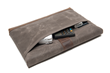 Surface Pro 4 or Surface Book SleeveCase—rear angled pocket, tan waxed canvas and grizzly leather