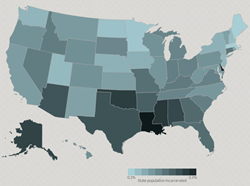 Interactive map incarceration rates screenshot