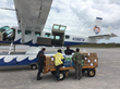 Tropic Ocean Airways Delivered Over 15 Tons of Supplies to Command Tents Set Up by The Bahamian Government in Georgetown, Bahamas