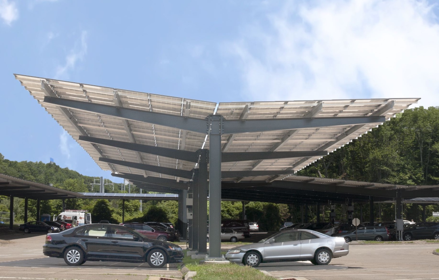 Solaire Generation Completes Largest Solar Parking Canopy