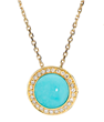 Diamond Audrey Button Pendant by Elizabeth Showers