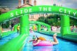 International Water Slide Splashes Across City Streets