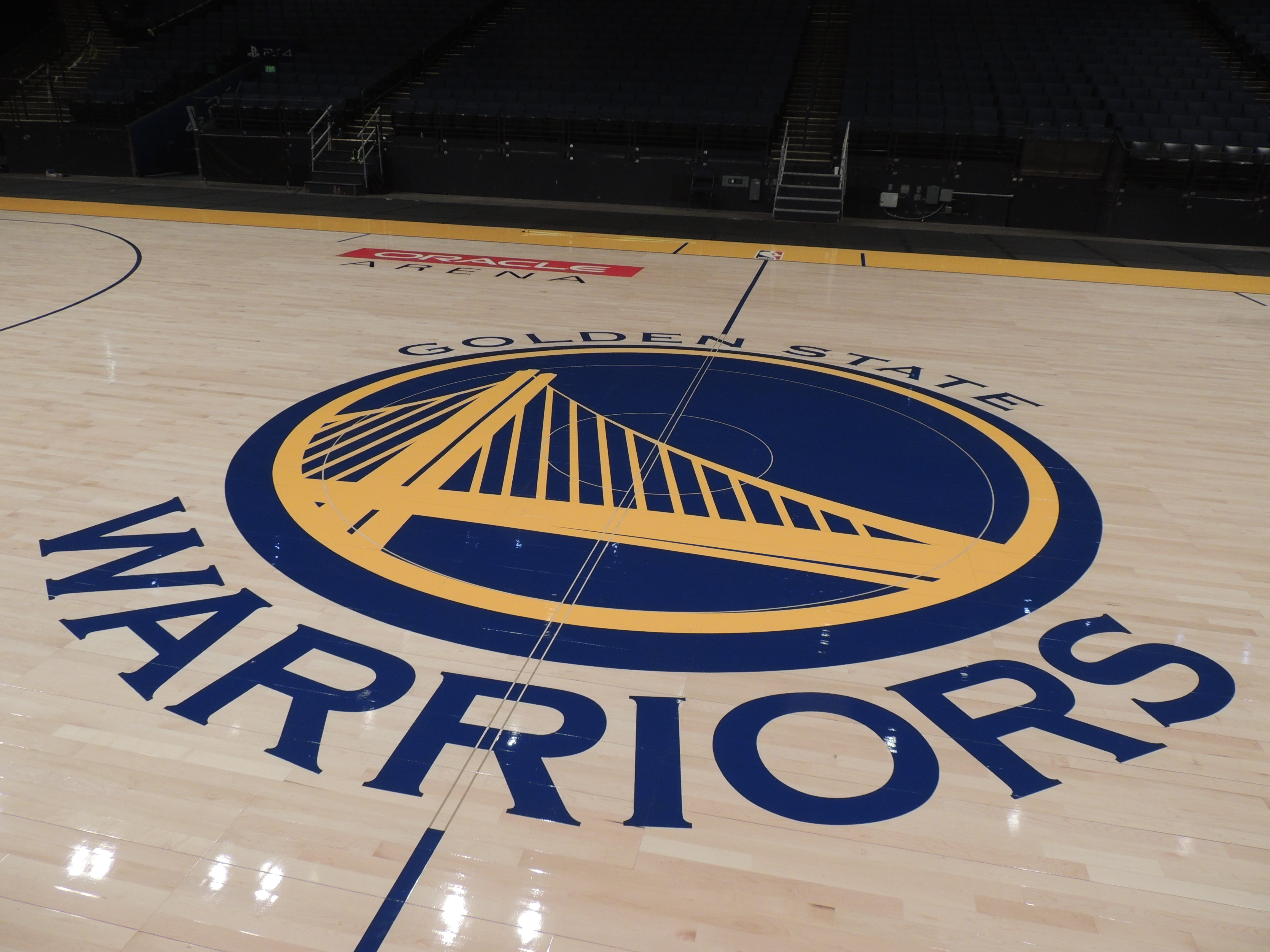 Oracle Arenau0027s New Connor Sports Court For The Golden State Warriors