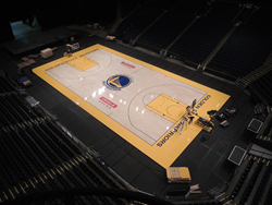 NBA'S Warriors to Open 2015-2016 Season on new Connor Sports' Court
