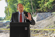 Mayor Hartley Connett of Dobbs Ferry spoke about the community effort to bring the Rivertowns Square idea to fruition.