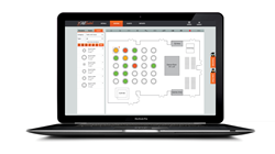 AllSeated allows event managers to create layouts with CORT furniture