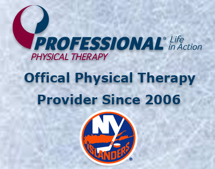 New york islanders partner with professional physical therapy for 10th season for Professional physical therapy garden city
