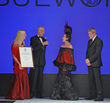 His and Her Royal Highnesses Prince Waldemar and Princess Dr. Antonia Schaumburg-Lippe presenting Sue Wong with a special Lifetime Achievement Award. Photo by Derrick Rogers