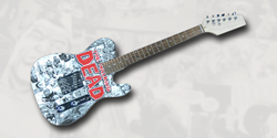 Walking Dead Comic Guitar