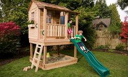 Cedar playhouse from certified, sustainably managed forests