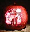 Gothic Image on Pumpkin
