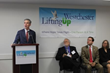 White Plains Mayor Thomas Roach Speaks at the Lifting Up Westchester Open Arms Shelter Ribbon-Cutting
