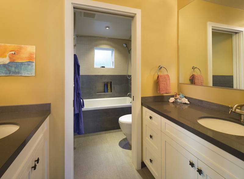 How To Remodel A Jack And Jill Bathroom : Colorful home remodel by jeff king company contractors
