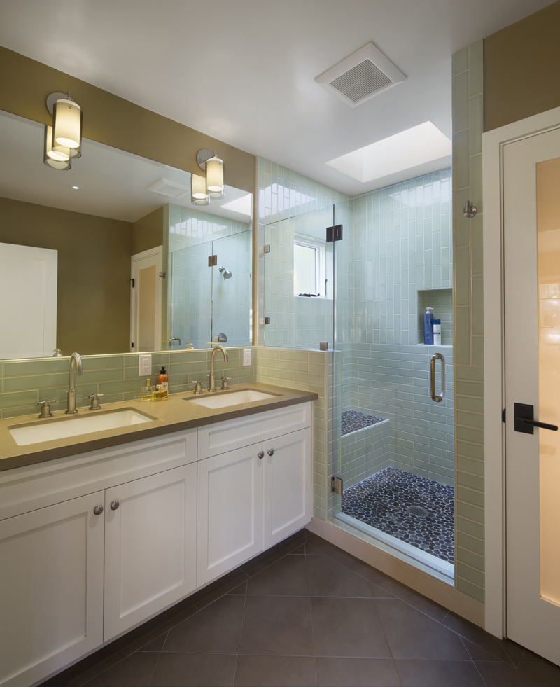 Colorful home remodel by jeff king company contractors for Bay area bathroom remodel
