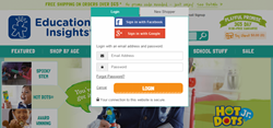 ShopSocially's Social Login screenshot_Educational Insights