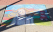 Local artist Shirley Benavides received first place at the Village of Ossining's second annual Chalk It Up! festival held recently at Market Square. Photo by: Michael Lee.