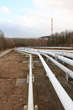 Pipeline - A system of pipe/pipes used to transport oil and/or gas to a main gathering point to be sold. (CEG Holdings, LLC.)