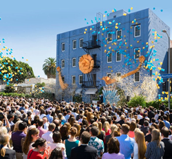 MORE THAN 2,000 SCIENTOLOGISTS GATHERED on L. Ron Hubbard Way in Los Angeles on Saturday, October 3, to celebrate the dedication of the Fountain religious retreat—the next step in a year of unprecedented expansion for the Scientology religion.