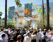 MORE THAN 1,500 SCIENTOLOGISTS CHEERED as the ribbon fell, signaling the grand opening of the Golden Crest religious retreat.