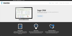 Sage CRM Partner Website Azamba