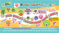 NameLabelsMagic manufacture both functional and stylish personalized name labels which are dishwasher safe and laundry safe.