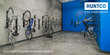 Bike room with Huntco wall bike racks