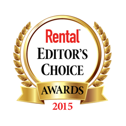 Rental magazine Editor's Choice Award logo