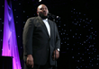 American Idol Season 2 winner, Ruben Studdard, was a guest vocalist with David Foster at Augie's Quest Tradition of Hope gala at the Beverly Hilton Hotel on October 10, 2015. Photo credit Steve Cohn.