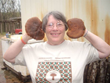 Sandra Williams, The Mushroom Lady, with peak-season shiitakes