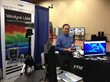 David Oroshnik of Velodyne, with the VLP-16 LiDAR Puck, at the Reno show