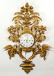 French Carved Gilt Clock
