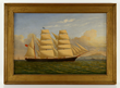 William Howard Yorke (British, 1847-1921), painting of a ship, o/c