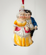 "Mr. & Mrs. Fezziwig as Vaillancourt Polish Glass Ornament for the new ""A Christmas Carol"" collection."