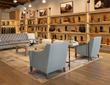 Comfortable seating surrounded by Lucchese handmade boots