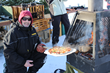Artisanal pizza is cooked on the frozen lake in an oven on skis, and is part of Manoir Hovey's ice fishing experience.