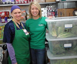 Nelson and Pade, Inc. Team Member, Jannel Dunn, delivering donated lettuce to Westfield Schools
