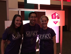 Picture of PA Students: Ashley Mohr, Eugene Yamamoto and Meghan Dean.
