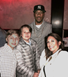 Asa Carey, Spencer Carey, NY Giant Rueben Randle and MENAJI Marketing Director Yvonne Carey-Lederer