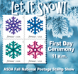 First Day Ceremony for United States Postal Service Snowflakes Stamps