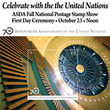 Celebrate the 70th Anniversary of the United Nations at the United Nations Postal Administration's First Day Ceremony.