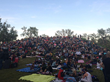More than 1,000 people showed up to enjoy an outdoor movie on The Rise just weeks after St. Patrick's Island Park opened. (Photo courtesy Civitas Inc.)