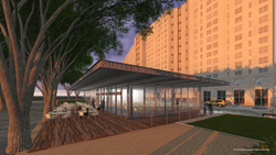 Nearly a year after announcing plans to spend $30 million to upgrade The Crescent®, officials announce the iconic office towers will get a Shake Shack® in its newly proposed park area at the corner of McKinney Avenue and Pearl Street.