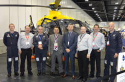 NPAS and CarteNav personnel with the upgraded EC135 T2+